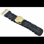 Relógio EF trança feminino ascari preto / dourado