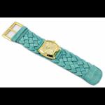 Relógio EF trança feminino ascari turquesa / dourado