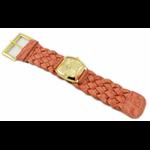 Relógio EF trança feminino ascari coral / dourado
