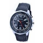 Relógio EF borracha masculino preta