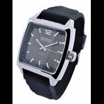 Relógio EF borracha masculino preta/preto