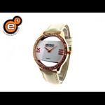 Relógio branco e dourado EF. 2216