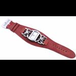 Relógio EF bracelete feminino de corrente/vermelha