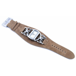 Relógio EF bracelete feminino de corrente/bege