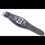 Relógio EF bracele feminino de corrente/café