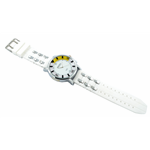 Relógio EF borracha branca masculino