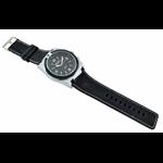 Relógio EF borracha preta masculino