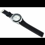 Relógio EF borracha preta / mostrador branco masculino