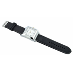Relógio EF borracha masculino preto/ mostrador branco