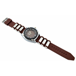 Relógio EF borracha marrom masculino