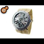 Relógio EF feminino franzido bege