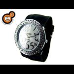 Relógio EF feminino franzido preto