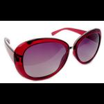 Óculos EF acetato redondo vermelho / lentes pretas
