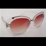 Óculos EF acetato redondo transparente / lentes marrom