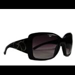 Óculos Ef acetato preto / lentes pretas