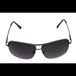 Óculos EF metal grafite / lentes esverdeada