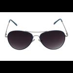 Óculos EF metal azul / lentes pretas