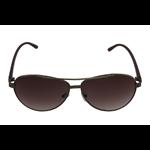 Óculos EF metal marrom / lentes marrom.