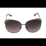 Óculos EF metal rosa / lentes pretas