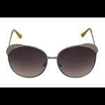 Óculos EF metal amarelo / lentes pretas