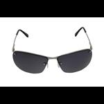 Óculos EF metal prata / lentes pretas