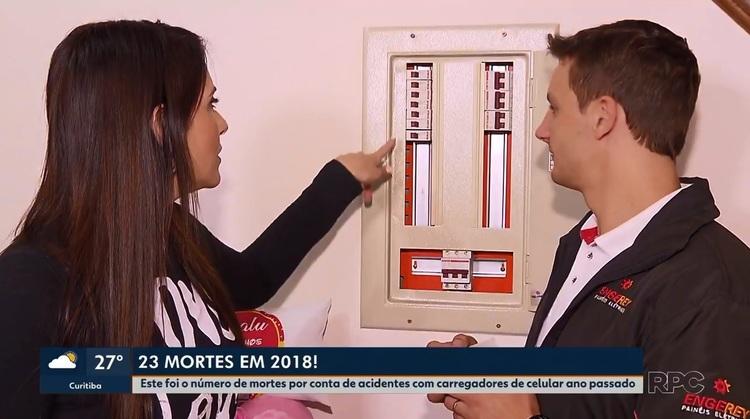 Reportagem da TV Globo PR com a Engerey mostra como evitar acidentes com carregadores de celular