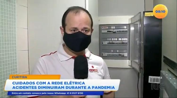 Reportagem da RIC TV com a Engerey: acidentes elétricos diminuem com a pandemia de Covid-19