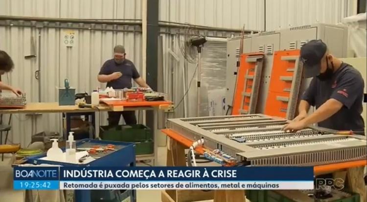 Retomada da indústria no Brasil e no Paraná - TV Globo com Engerey