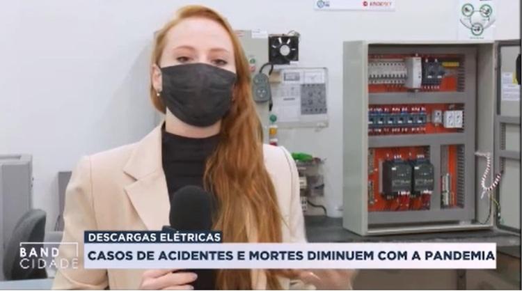 Reportagem da TV Band com a Engerey: como evitar choque elétrico e incêndios em casas, comércios e indústrias!