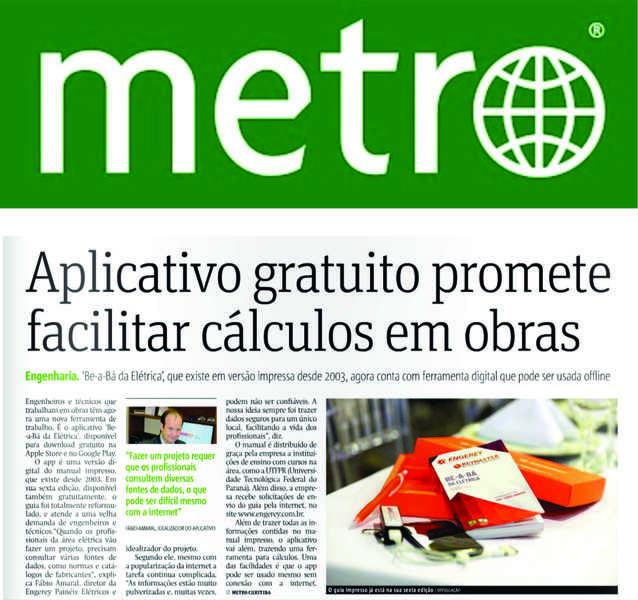 Be-a-Bá da Elétrica foi destaque no Jornal Metro