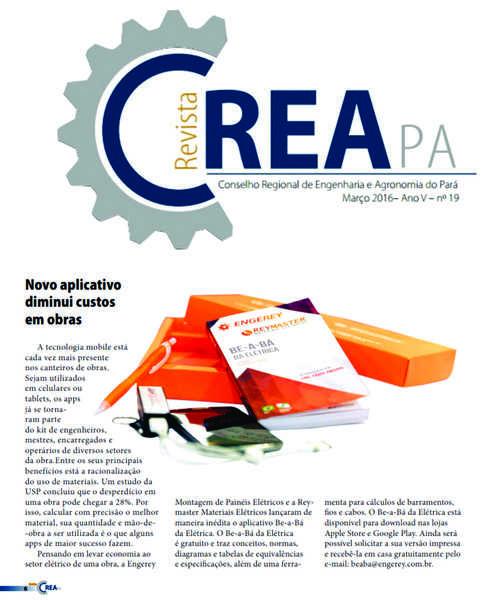 No Estado do Pará, o Be-a-bá ganhou destaque da Revista do Crea