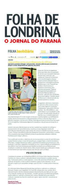 A Folha de Londrina destacou a Engerey em seu Caderno de Construção.