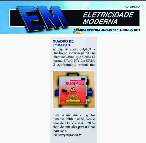 O QTCO foi destacado na Revista Eletricidade Moderna