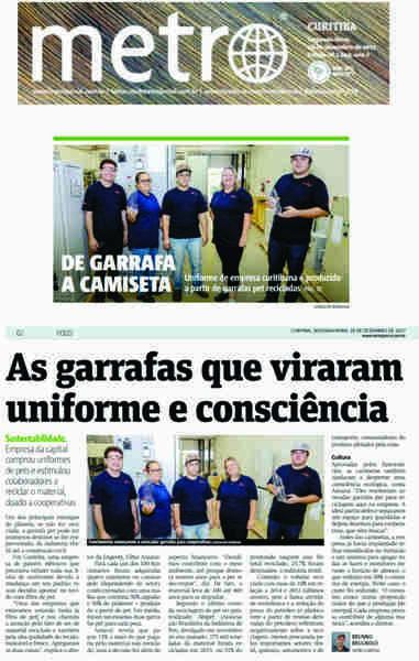 Ações de sustentabilidade realizadas pela Engerey renderam uma matéria de capa no Jornal Metro Curitiba