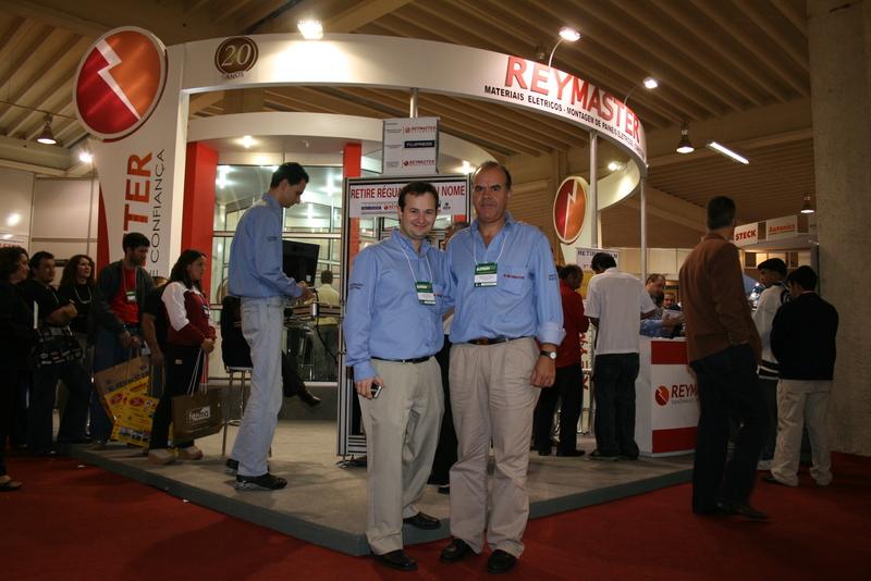 Fábio Amaral da Engerey e Benedito Gonçalves Andrade da Reymaster na ELETRON 2007