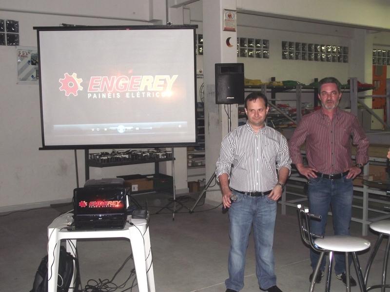 Fábio Amaral e Marco Stoppa no evento de 10 anos da Engerey