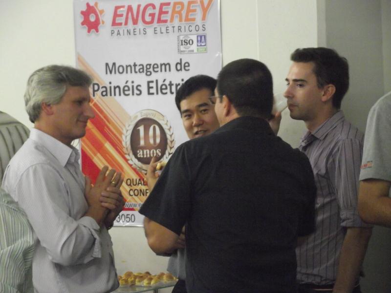Reynaldo Gabardo Jr., da Reymaster, no evento de 10 anos da Engerey