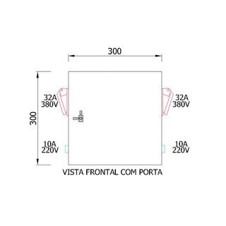 Painel de tomadas EPT-3840A