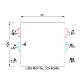 Painel de tomadas EPT-3863A