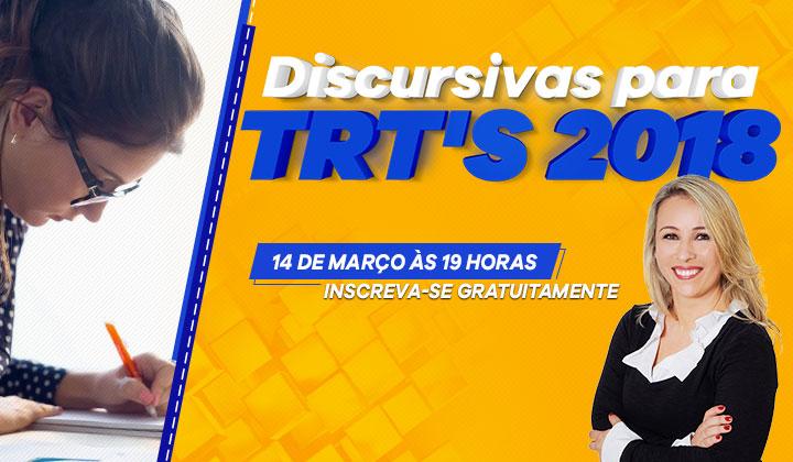 Aulão de Discursivas TRT 2018