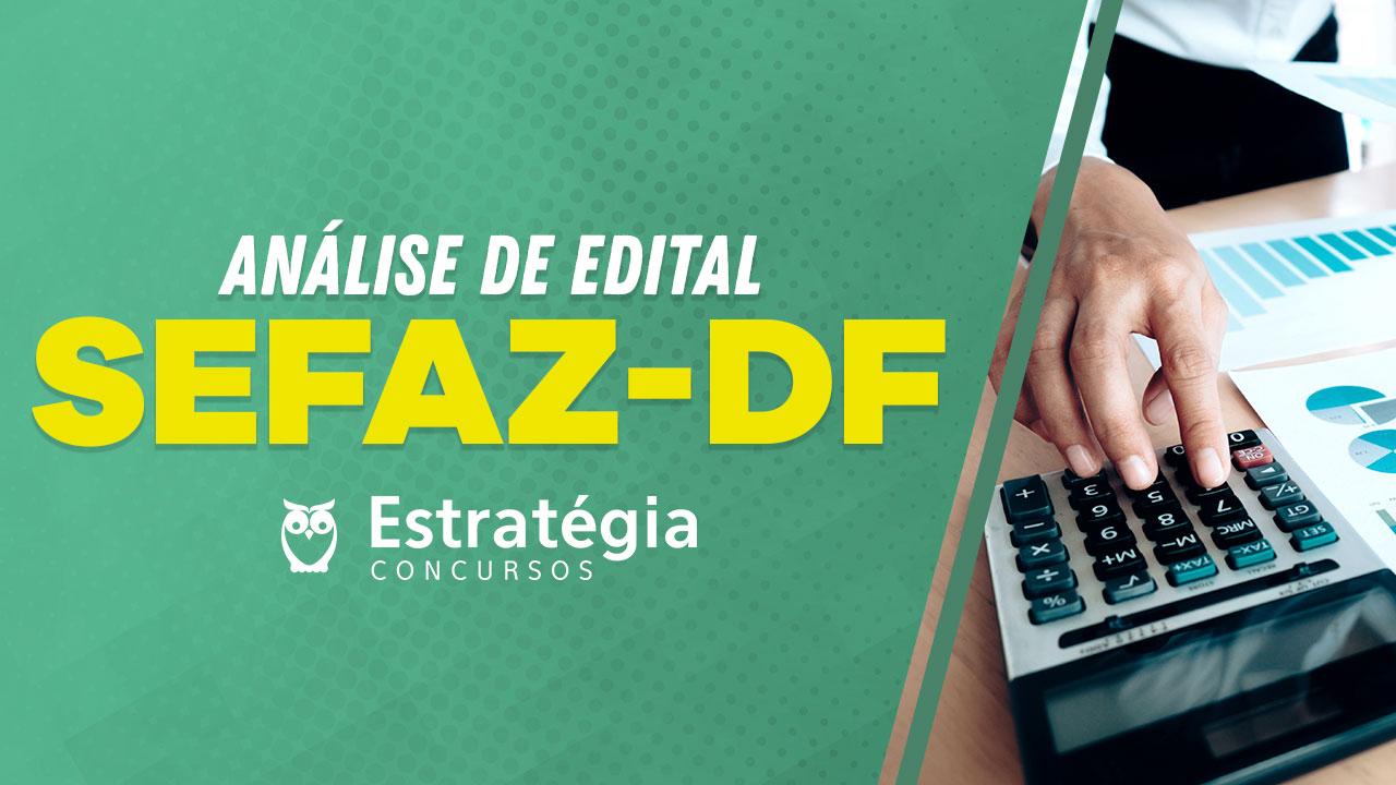 Análise de Edital SEFAZ-DF