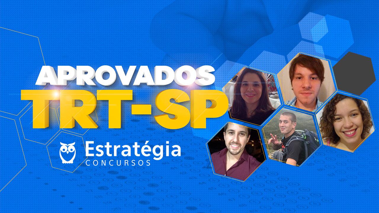 Aprovados do Concurso TRT-SP