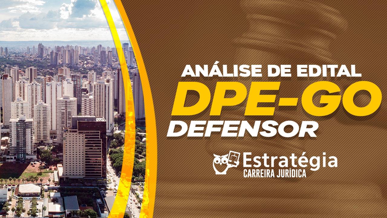 Concurso Análise de edital dpe-go
