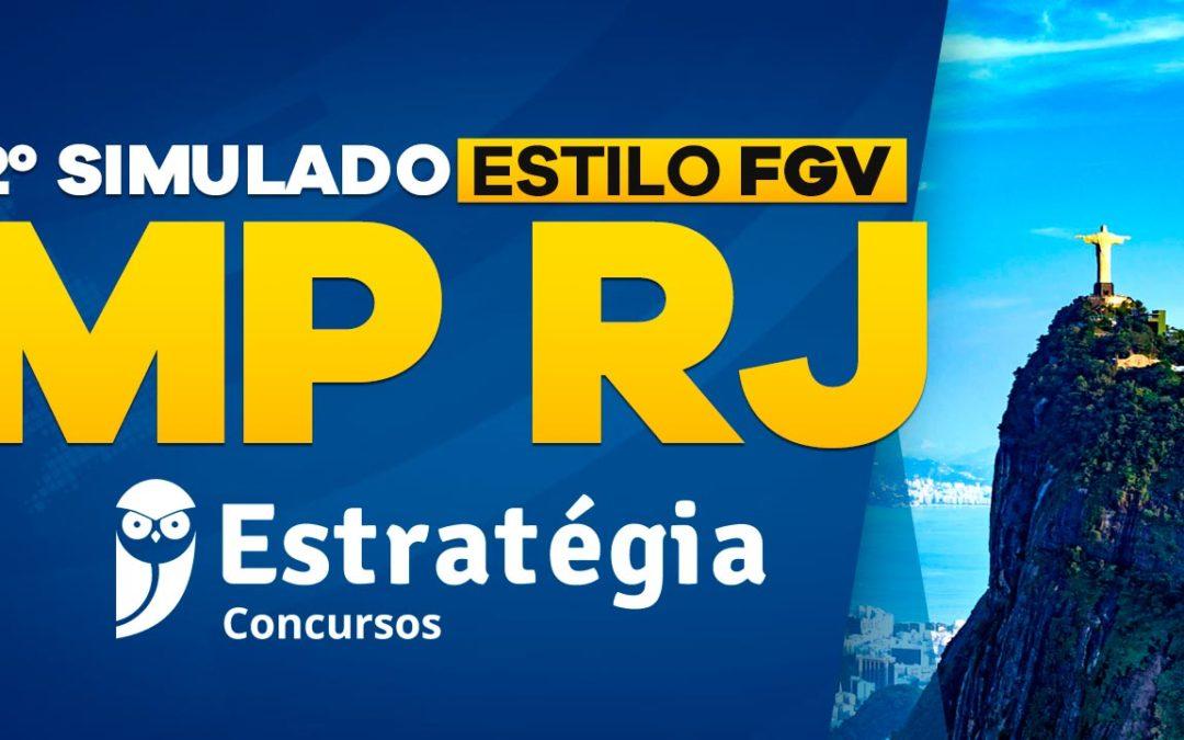 2º Simulado MP RJ – Estilo FGV