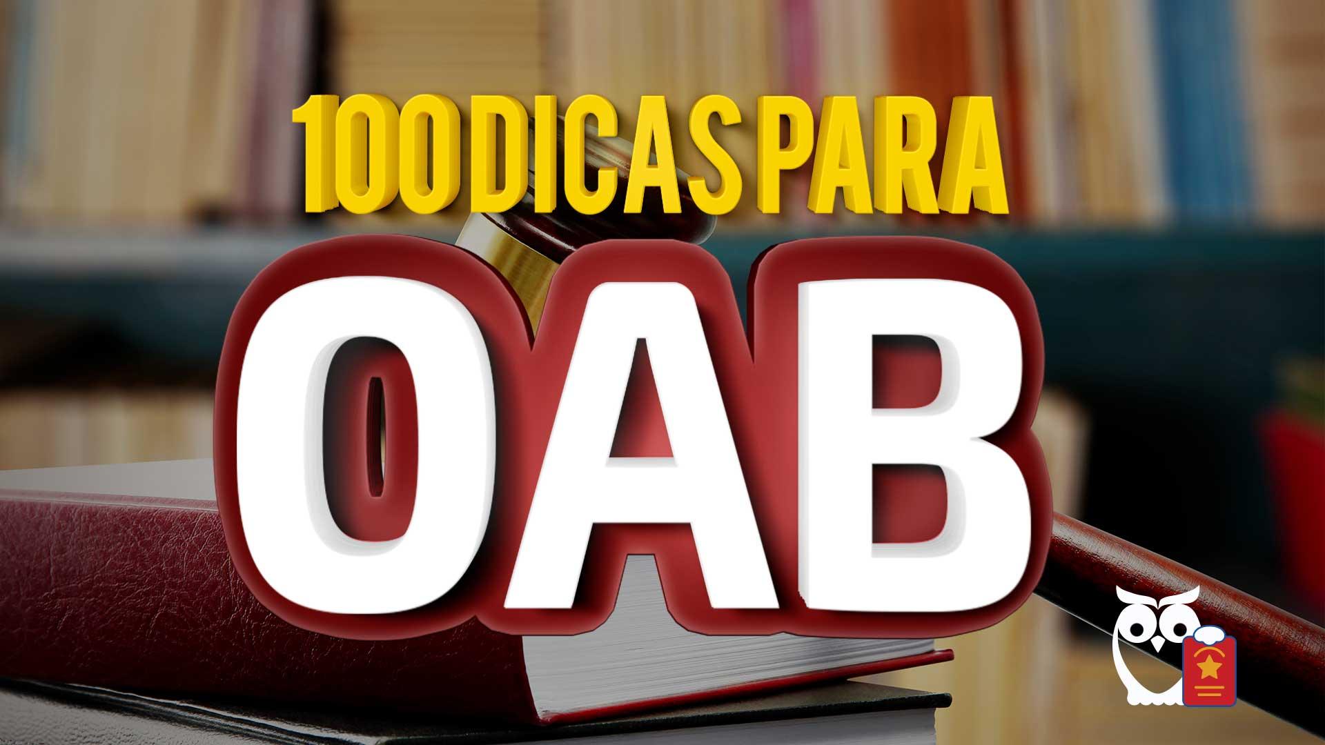 100 dicas para oab