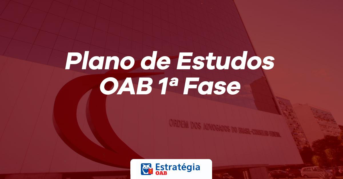 PLANO DE ESTUDOS OAB