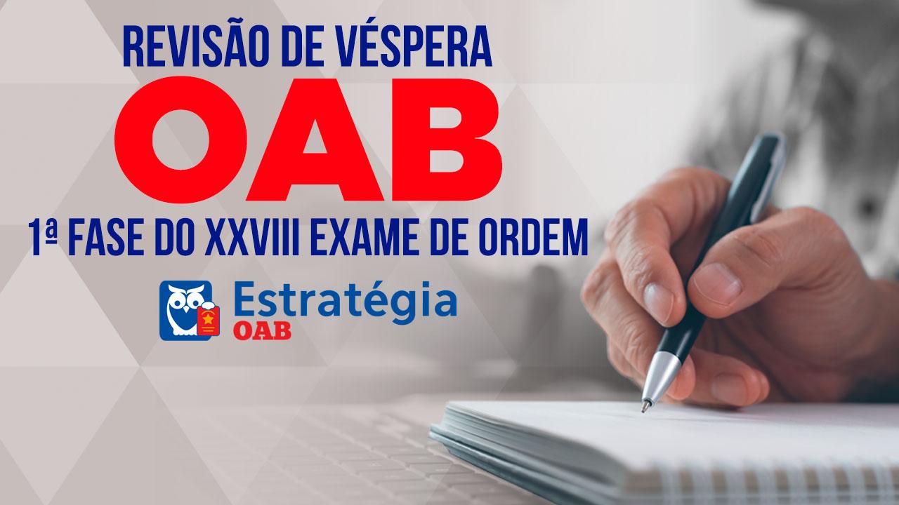 revisão oab