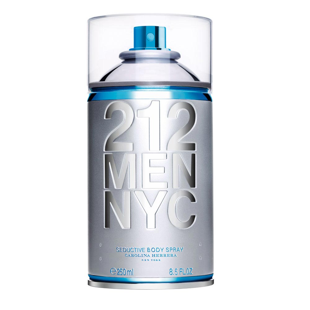 Perfume 212 Nyc Seductive Body Spray Masculino 250ml Carolina Herrera