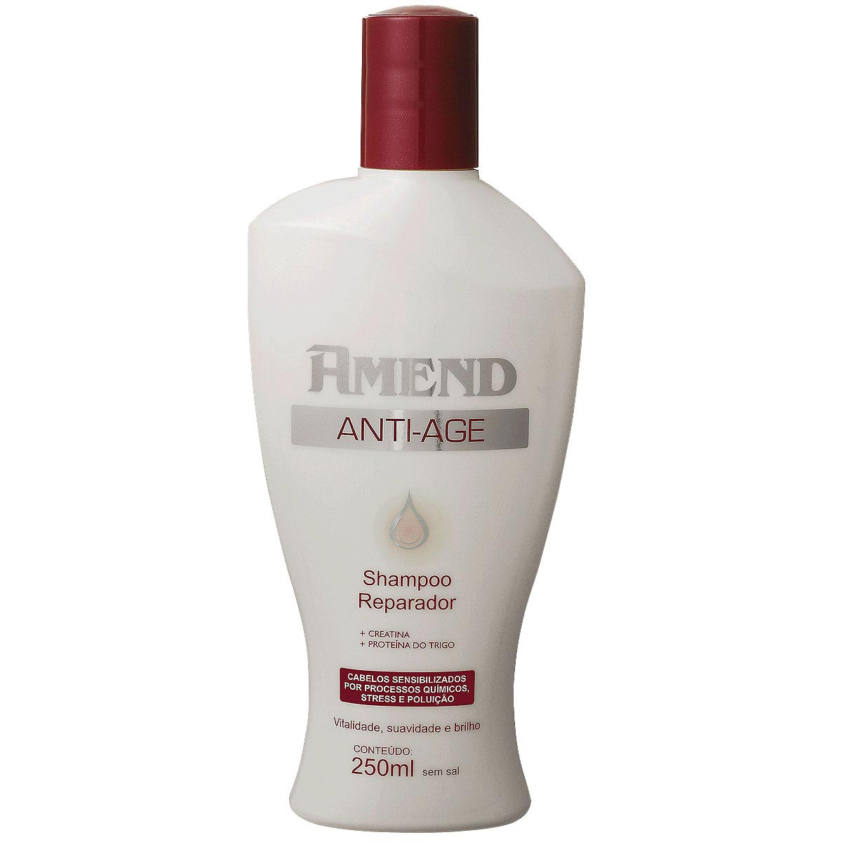 Shampoo Reparador Sem Sal Anti-age 250ml Amend