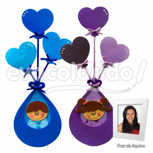 Molde 010 - Bebês no Balão